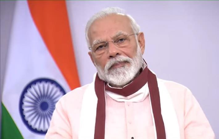 Prime Minister Narendra Modi addressing the nation on May 12, 2020. Pic: PMO/Youtube