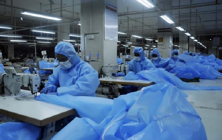 PPE production in progress at RIL