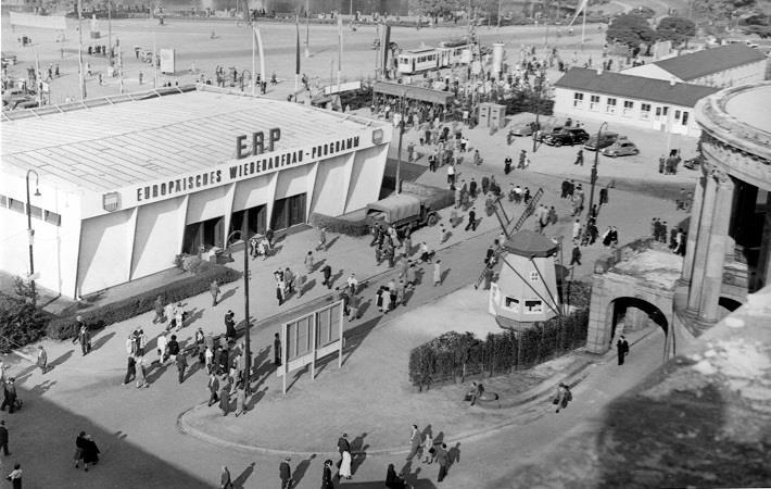 Autumn fair in Frankfurt in 1949. Pic: Messe Frankfurt GmbH