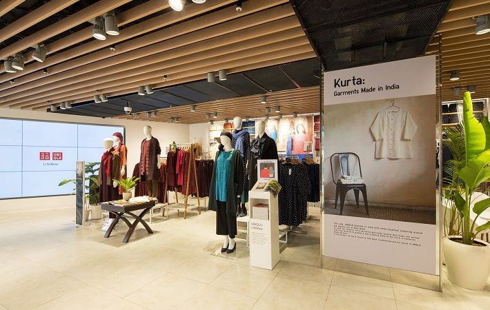 An inside view of a UNIQLO India store in New Delhi, India. Pic: Fast Retailing