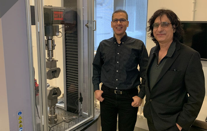 Mohamed Meguid (left), Group Leader of the Geo Group of McGill University, and Sam Bhat, M.Eng (Tech Mgt), MIGS VP Global Business Development, CTO Geosynthetics, Titan Environmental Containment