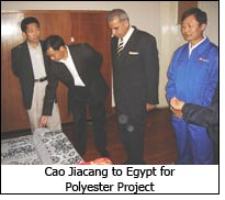 Cao Jiacang to Egypt for Polyester Project