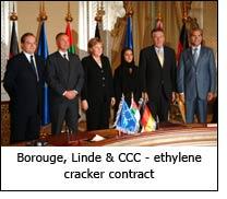 Borouge, Linde & CCC - ethylene cracker contract
