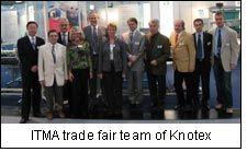 ITMA trade fair team of Knotex
