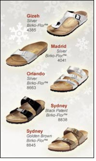 Birkenstock Sparkle and Shine Collection for holiday season