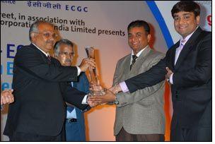 Jaydeep Cotton Fiber bag exporters excellence award