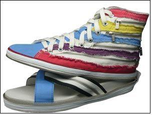 Unzip sneaker & make it a sandal