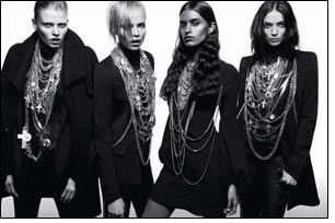 Givenchy F/W women's ready-to-wear inspired by Gothic aesthetics