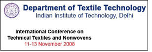 International Conference on Technical Textiles & Nonwovens to be held in Delhi