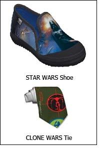 Zazzle offers STAR WARS and CLONE WARS shoes & ties