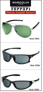 Sharp, stylish & sporty Ferrari Eyewear by Marcolin