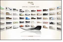Updated website of Skins features spring/summer collection