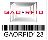 GAO RFID releases Gen 2 Passive Bar Code RFID Tag
