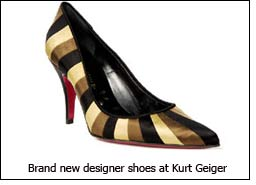 Brand new designer shoes at Kurt Geiger