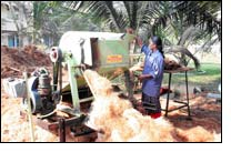 Development of Mobile Fibre Extraction Machine for coir industry