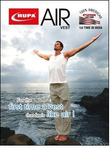 Rupa 'Air' vests that feels light & fresh as air