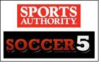 Sports Authority as sporting goods retailer of Soccer 5 USA