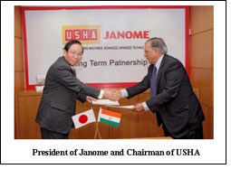 Janome Sewing signs 20 year cooperation deal with USHA