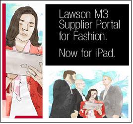 Apple's iPad Safari browser supports Lawson M3 Supplier Portal for fashion