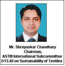 Mr Chaudhary is first Indian National to hold Chairmanship of ASTM Subcommittee