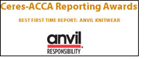 Anvil Knitwear wins Best First Time Report at Ceres