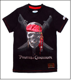 Launch of Pirates of the Caribbean apparel range