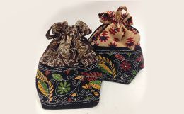 Handbags with Kalamkari motifs