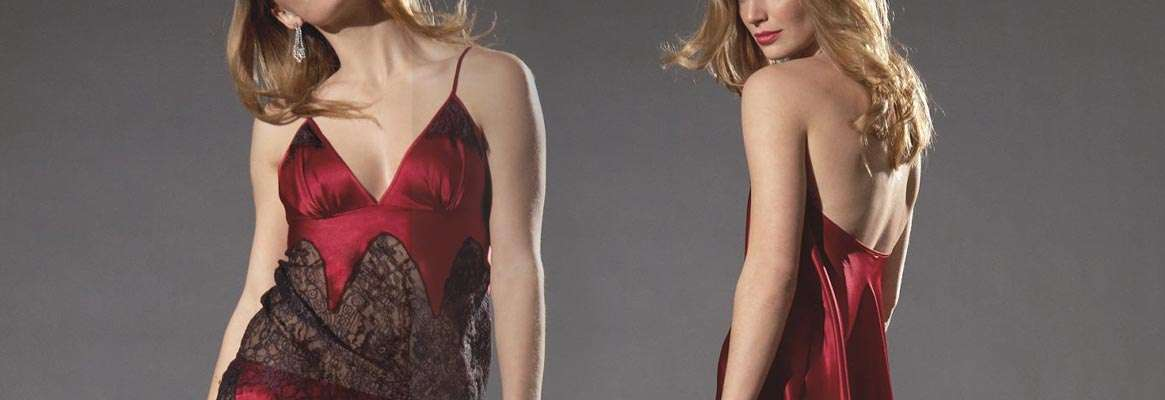 Feel sensual in silk nightwear