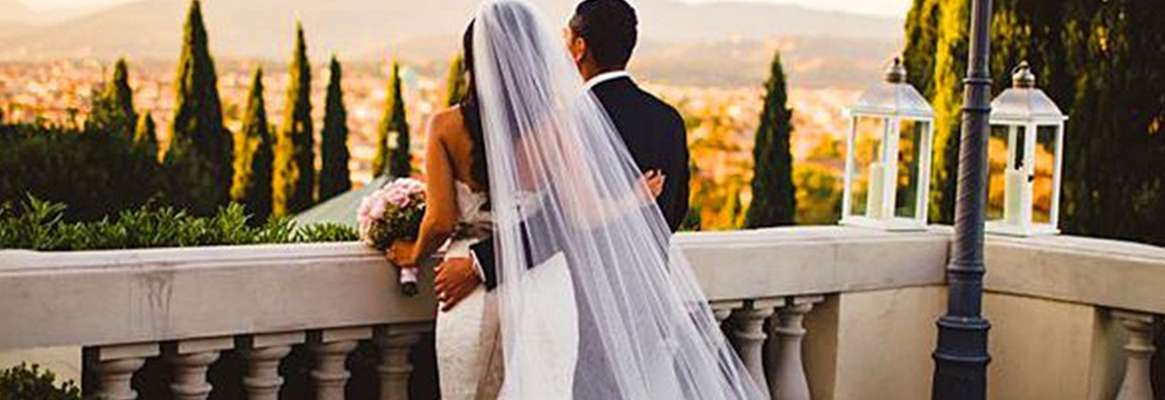 Ivory and white bridal veils