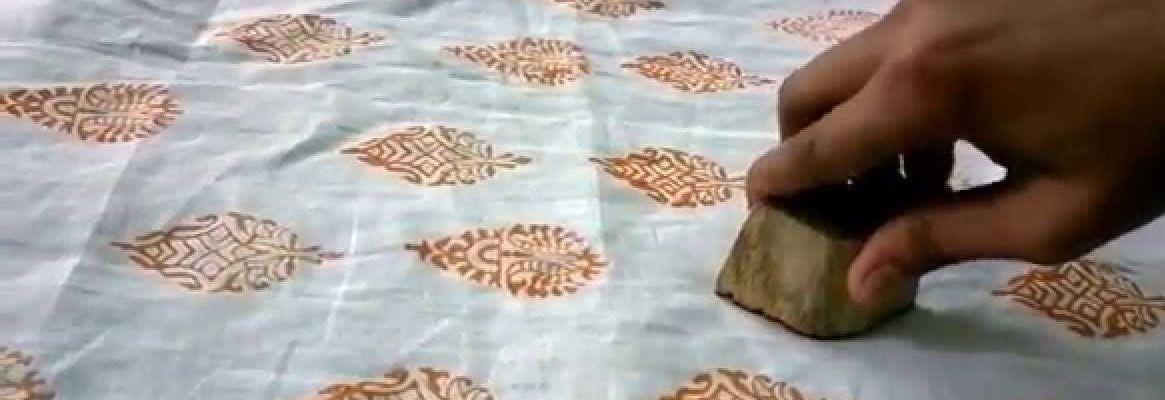Wooden Blocks Fabric Block Printing Fine Cotton Fabrics Hand