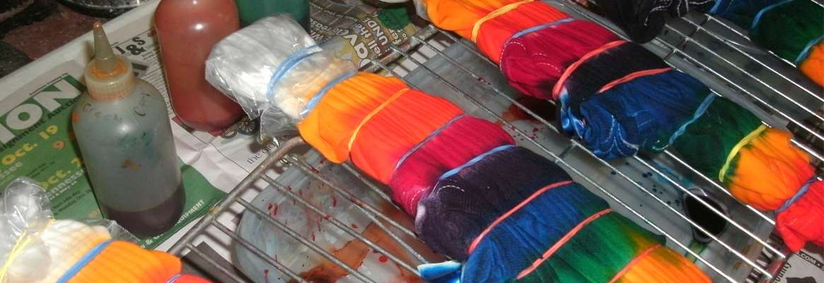 Gel Dyeing Fibers To Achieve Mass Production