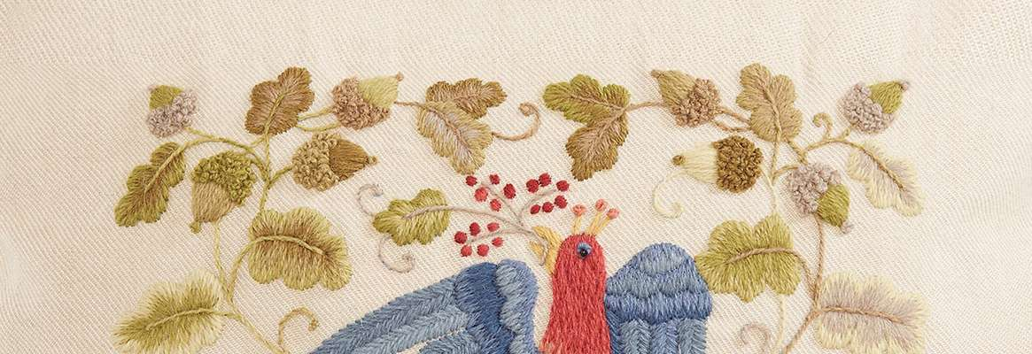 English Embroidered Crewelwork