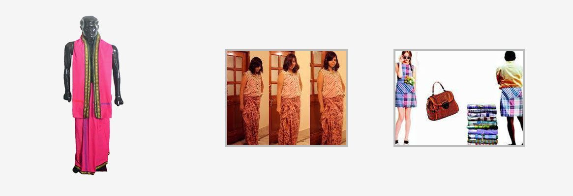 100/% Egyptian Cotton Mens Lungi Longi Sarong Sewn Traditional Dark Colours
