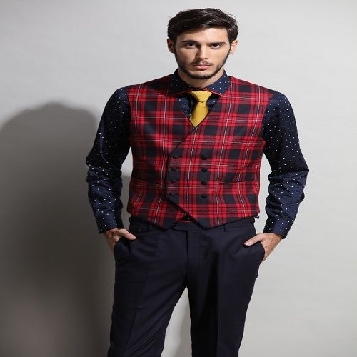 Sunil Mehra | Plaided patch