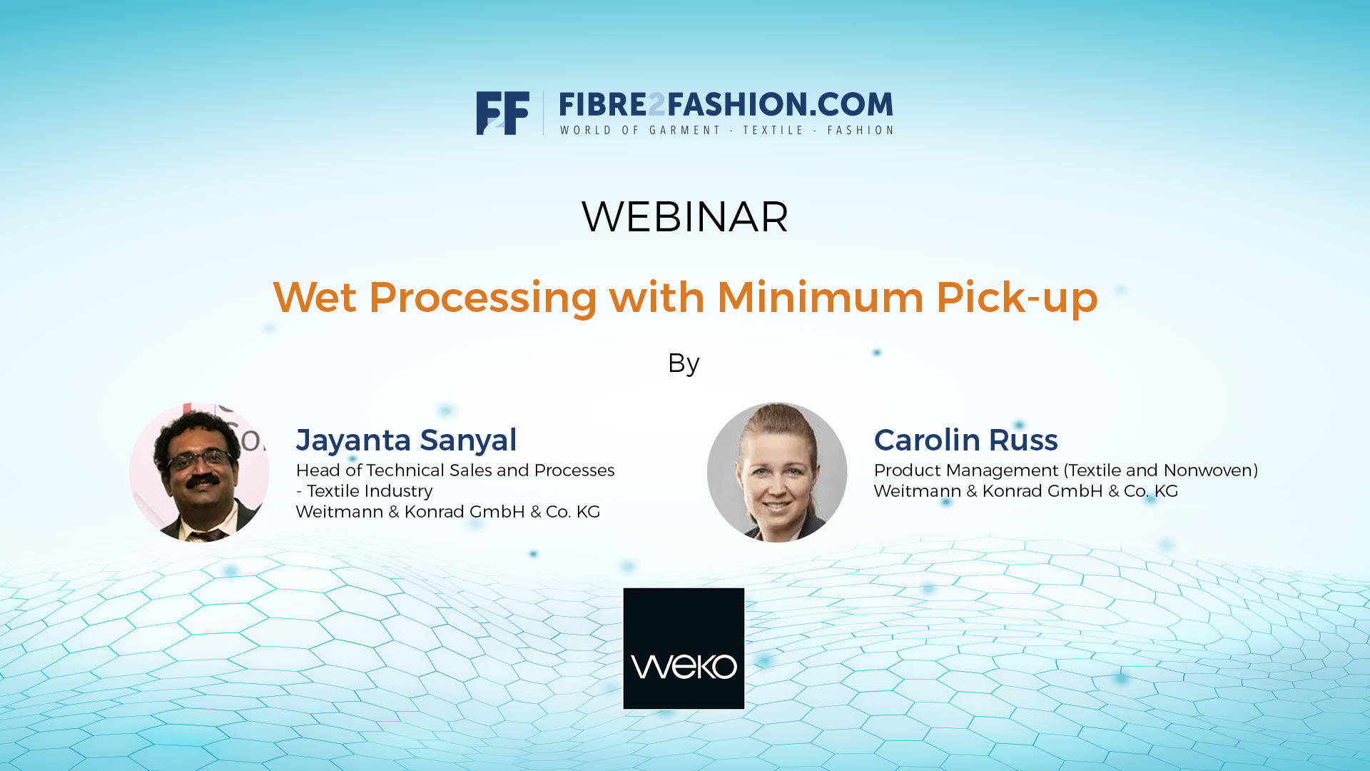 Wet Processing with Minimum Pick-Up | Webinar by WEKO