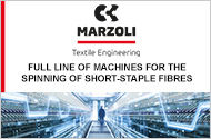 MARZOLI : Full Line of Machines for the Spinning of Short-Staple Fibres
