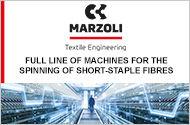 MARZOLI : Full Line of Machines for the Spinning of Short-Staple Fibres
