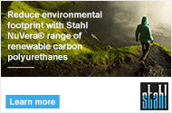 Reduce environmental footprint with Stahl NuVera® range of renewable carbon polyurethanes | Learn More