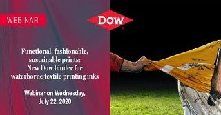 Functional, Fashionable, Sustainable Prints: New Dow binder for waterborne textile printing inks